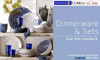 Laopala-corelle-dinner-sets-extra-50-cashback-on-rs-799-paytm
