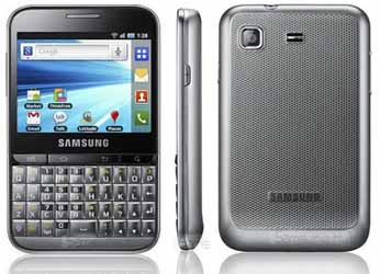 Samsung GALAXY Pro is a touchscreen smartphone with QWERTY keyboard in