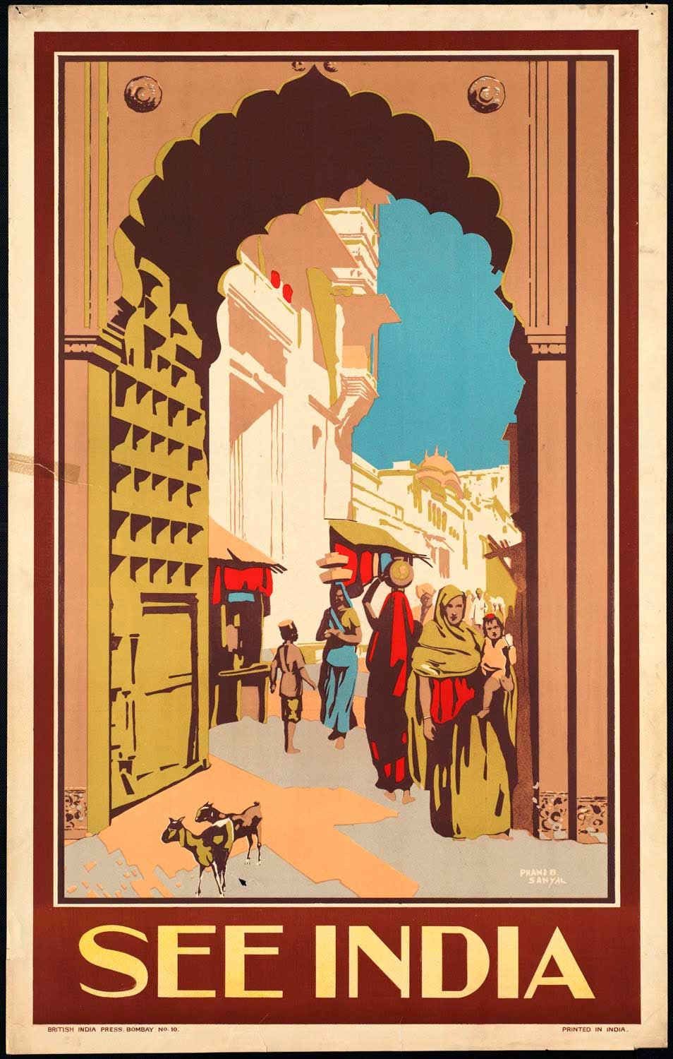 India Air-India Travel Poster Vintage Travel Poster Gap Year