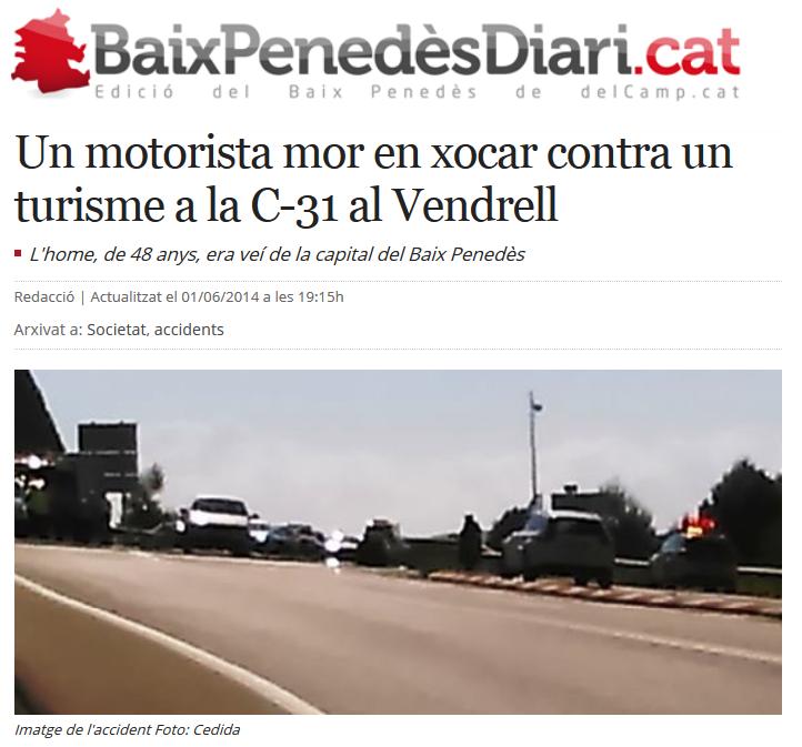 http://www.naciodigital.cat/delcamp/baixpenedesdiari/noticia/1738/motorista/mor/xocar/contra/turisme/c-31/al/vendrell