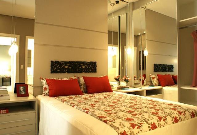 decoracao de apartamentos pequenos quarto casal: de casamento, casa e maternidade: Inspirações para quartos de casal