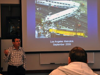 Instructor Steven Ghidoni explains the human error factors from lessons learned from an LA commuter train crash.