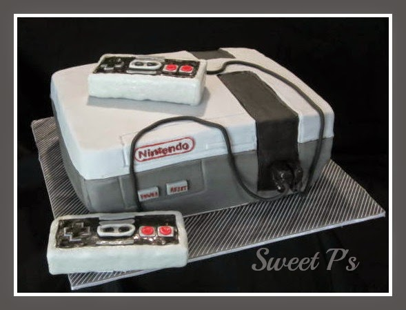 Groom cake with paper covered board