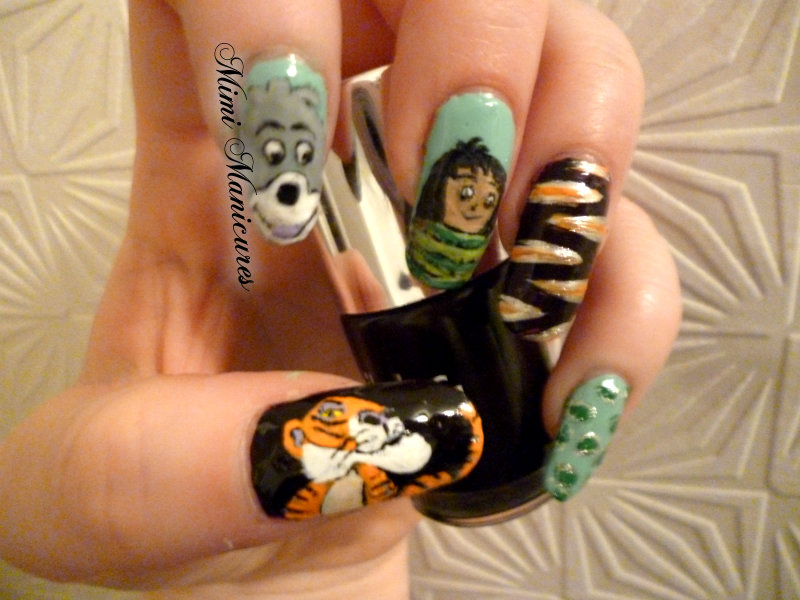 My Adventures In Nail Polish Disney Jungle Book Nail Art
