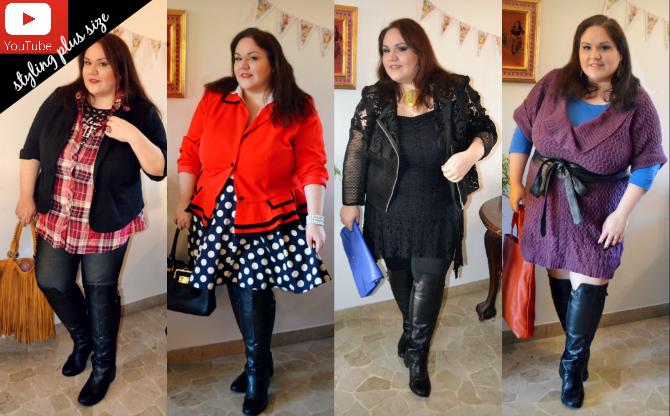 styling plus size e curvy: come indossare stivali sopra al ginocchio conformati