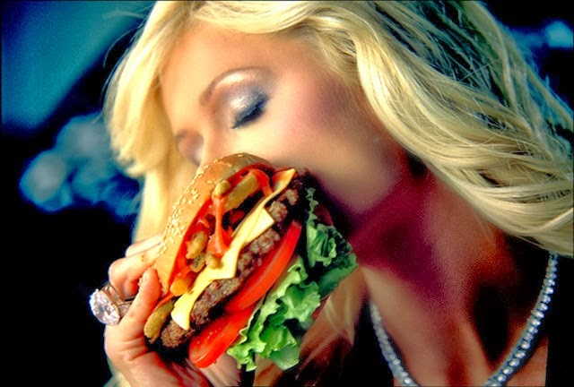 paris hilton burger ad