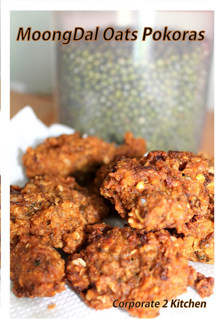 Moongdal Oats Pakoras