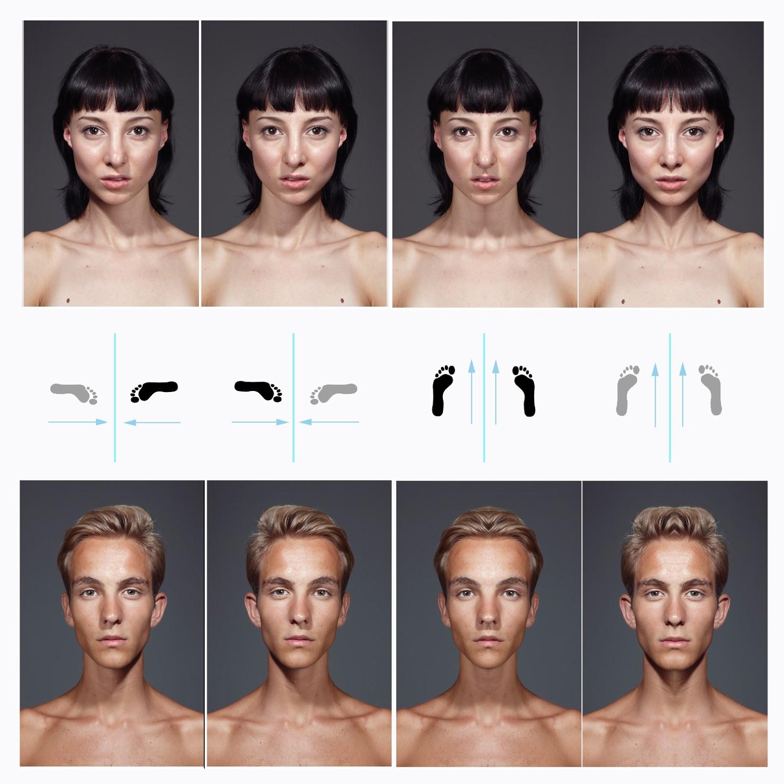 rostros, variaciones, simetrias