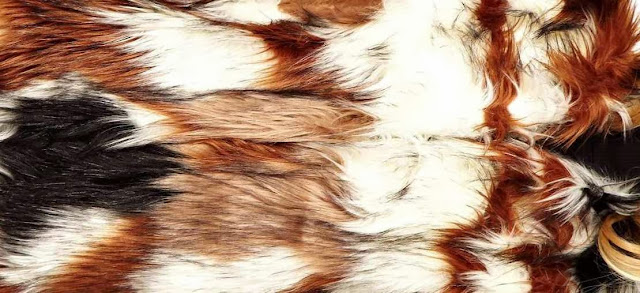 ASOS Patterned Faux Fur Batwing Coat