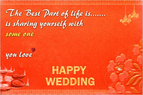 52 Happy Wedding Wishes for on a Card