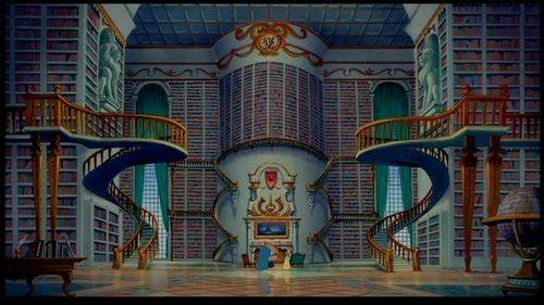 biblioteca de La Bella y la Bestia