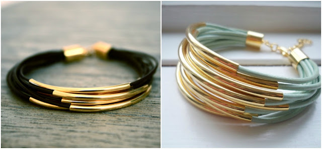 pulseras doradas gold bracelets tube