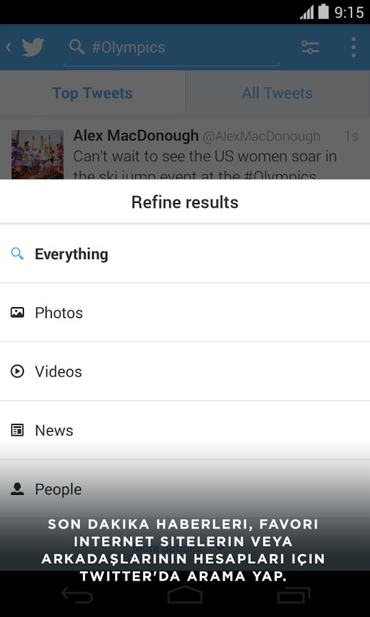 Twitter Android Apk Uygulama resimi