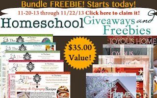 Homeschool Giveaways - Joyous Home Freebie Bundle