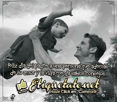 Feliz día del padre a una persona que además de su amor y la vida me da sabios consejos.