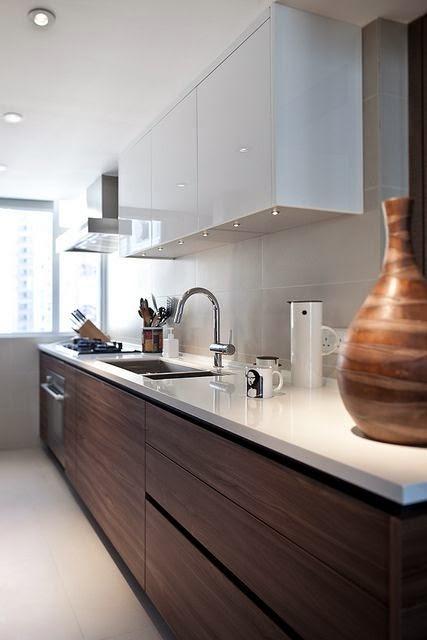 Cozinhas com m veis sem puxadores topa decorar - Armarios para sala de estar ...