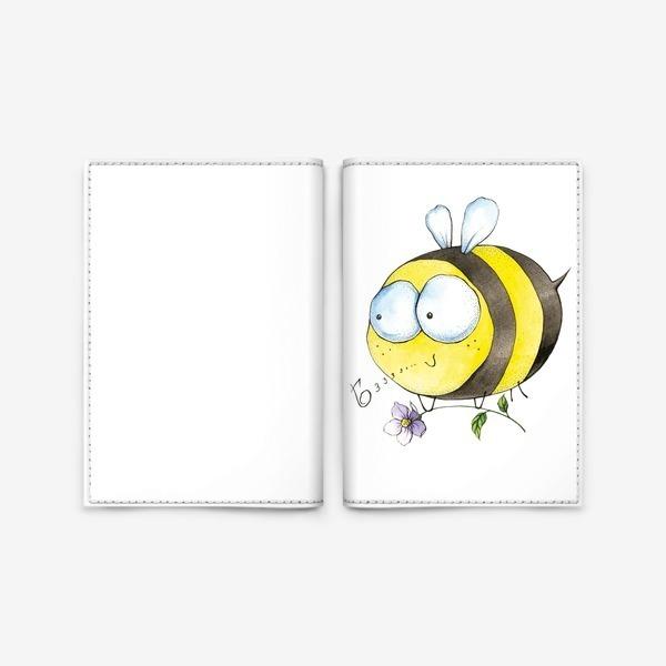 пчела с цветком