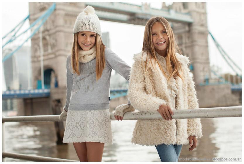 Mimo & Co otoño invierno 2015, moda otoño invierno 2015 infantil. Tapados para nenas invierno 2015.