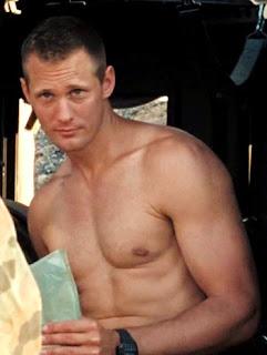 Alexander Skarsgard bare chested