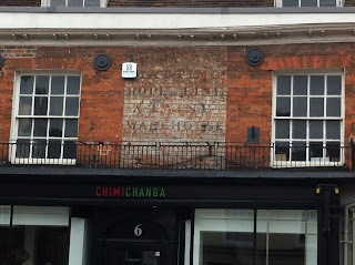 Ghost sign in Farnham, Surrey