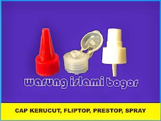 Tutup Kerucut, Presstop, Fliptop dan spray
