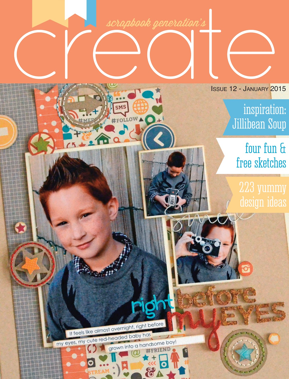 Scrapbook Generation Create Magazine January 2015 Issue