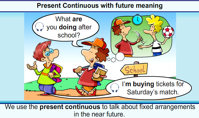 Present Continuous with Future Meaning