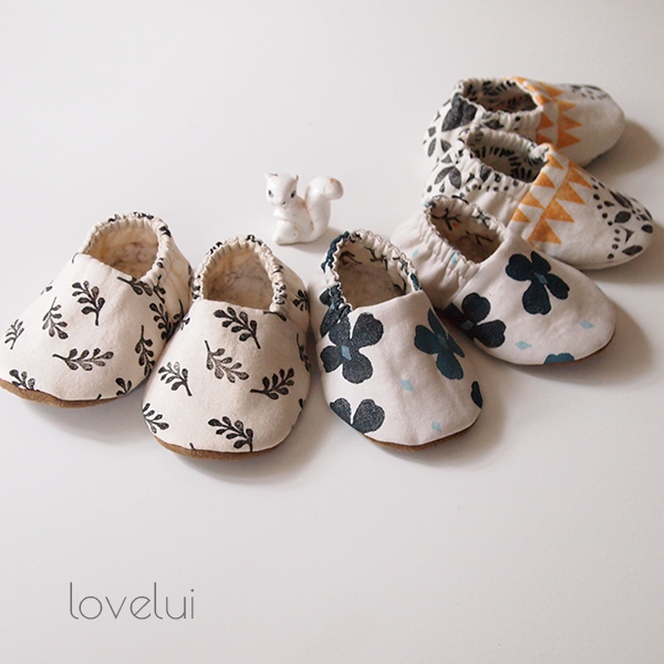 Printed Baby Booties