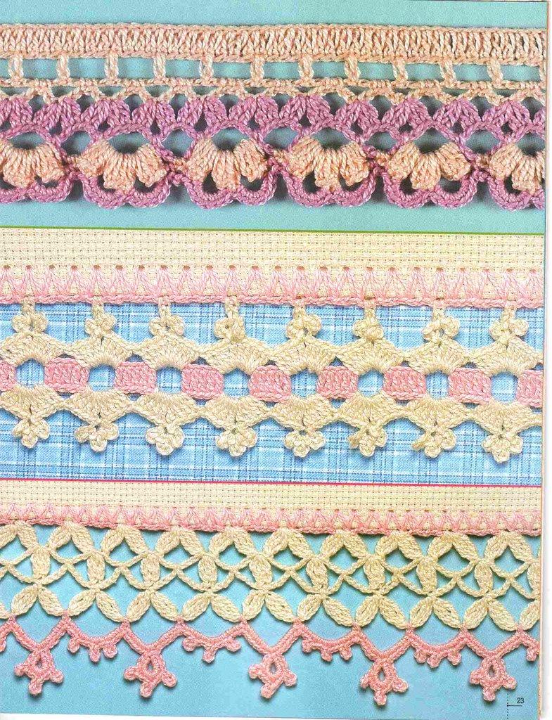 El tallercito de nany manteles con puntillas y entred s - Bordure de finition au crochet ...