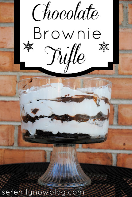 Chocolate Brownie Trifle (Easy Holiday Recipe) from Serenity Now
