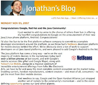 Sun CEO Approved Google's Use of Java