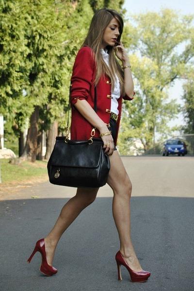 Amarelo Bordo+look+vermelho+preto+Fashion+Bag+bolsa+tendencia+verao