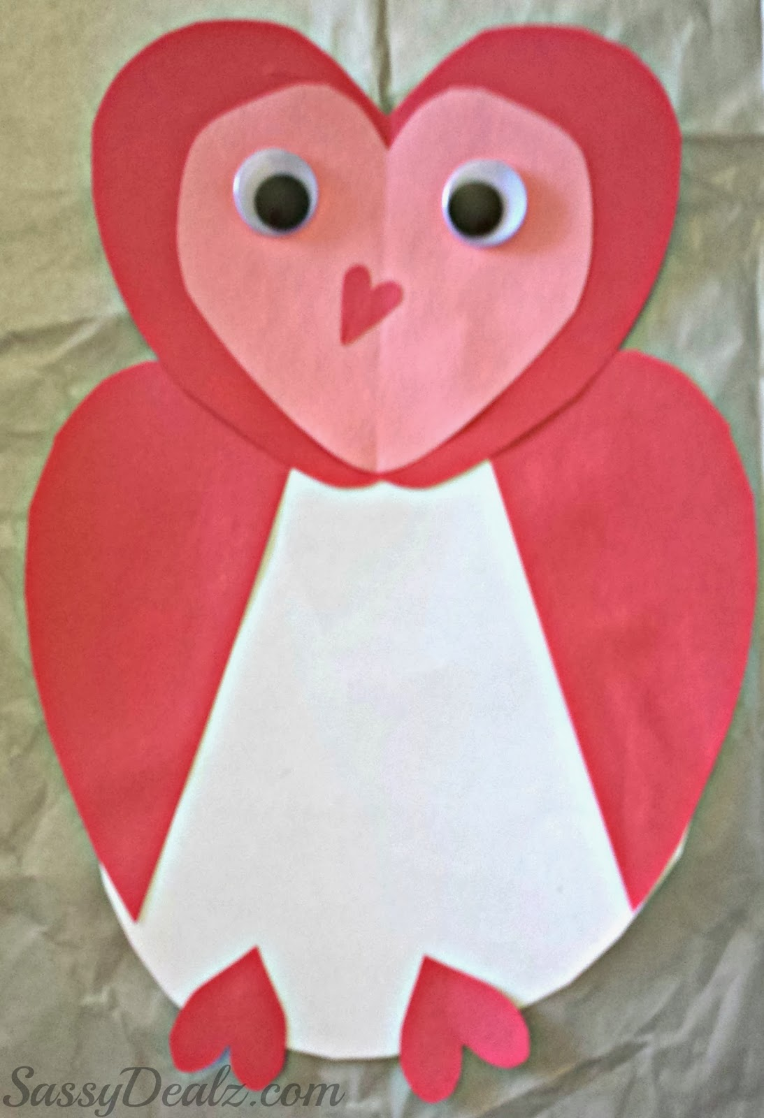 Owl valentines day card idea for kids crafty morning for Valentines day toddler crafts
