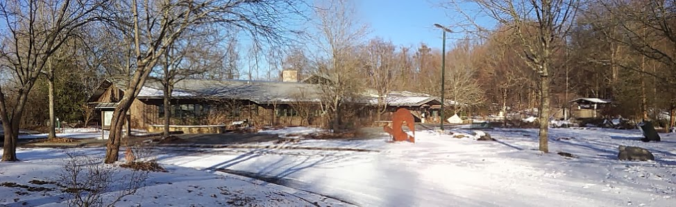 Ijams Visitor Center in winter