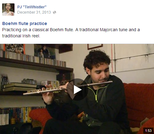 Boehm flute practice (video on FB)