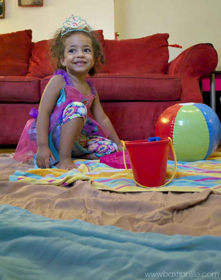 The Little Mermaid Inside Beach Fun Day #DisneyPrincessPlay #Shop