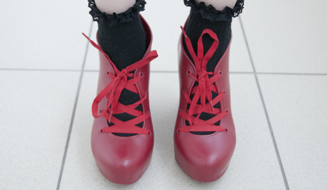 shoes, melissa, jelly, red, boots