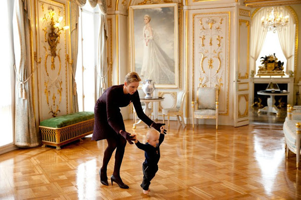 Princess Charlene, Prince Jacques And Princess Gabriella