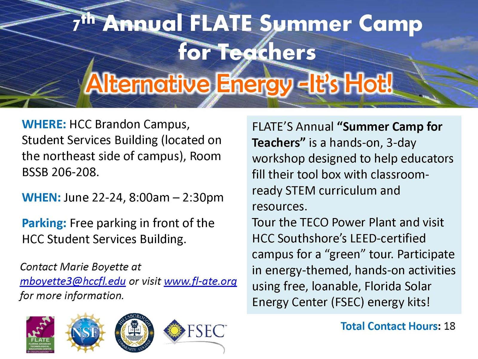 Summer Camp for Teachers (June 22-24): Register NOW!