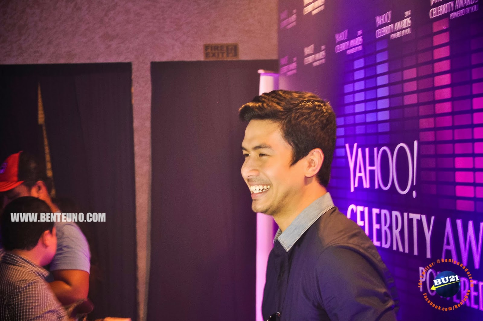 Christian Bautista during the Yahoo Celebrity Awards media launch