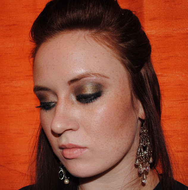 a style of your own blog, brown and gold eye makeup, Makeup Forever lipstick