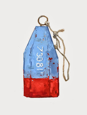 Lobster Buoy painting from Etsy seller Studio Tuesday