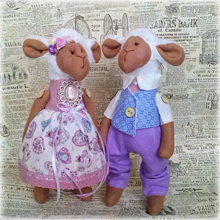 овечки, подарок, подарок к новому году, пара овечек, семья овечек