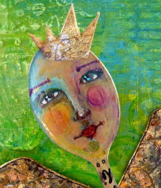 Whoopidooings: Carmen Wing - Mixed media spoon angel