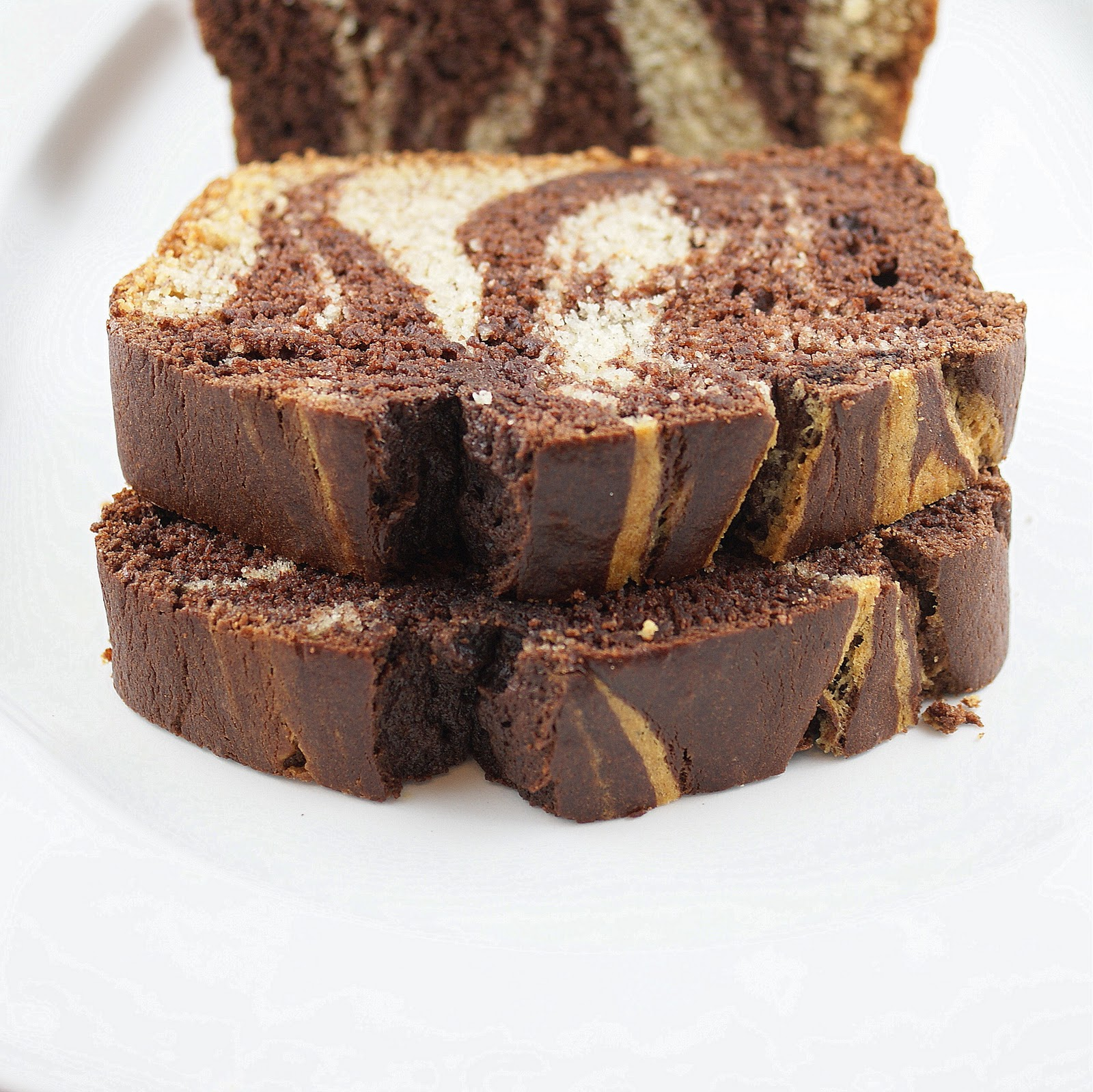 Directions and Ingredients for Chocolate Banana Marble Bread