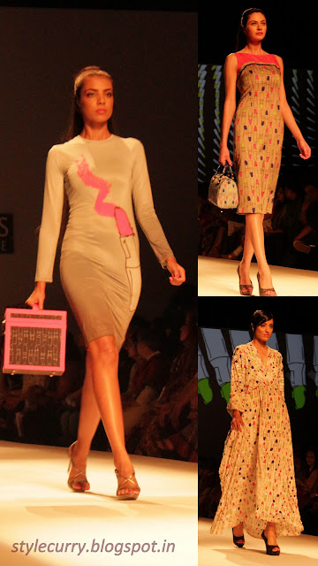 Masaba Gupta for Satya Paul at Wills Lifestyle India Fashion week displaying Quirky lipstick print collection