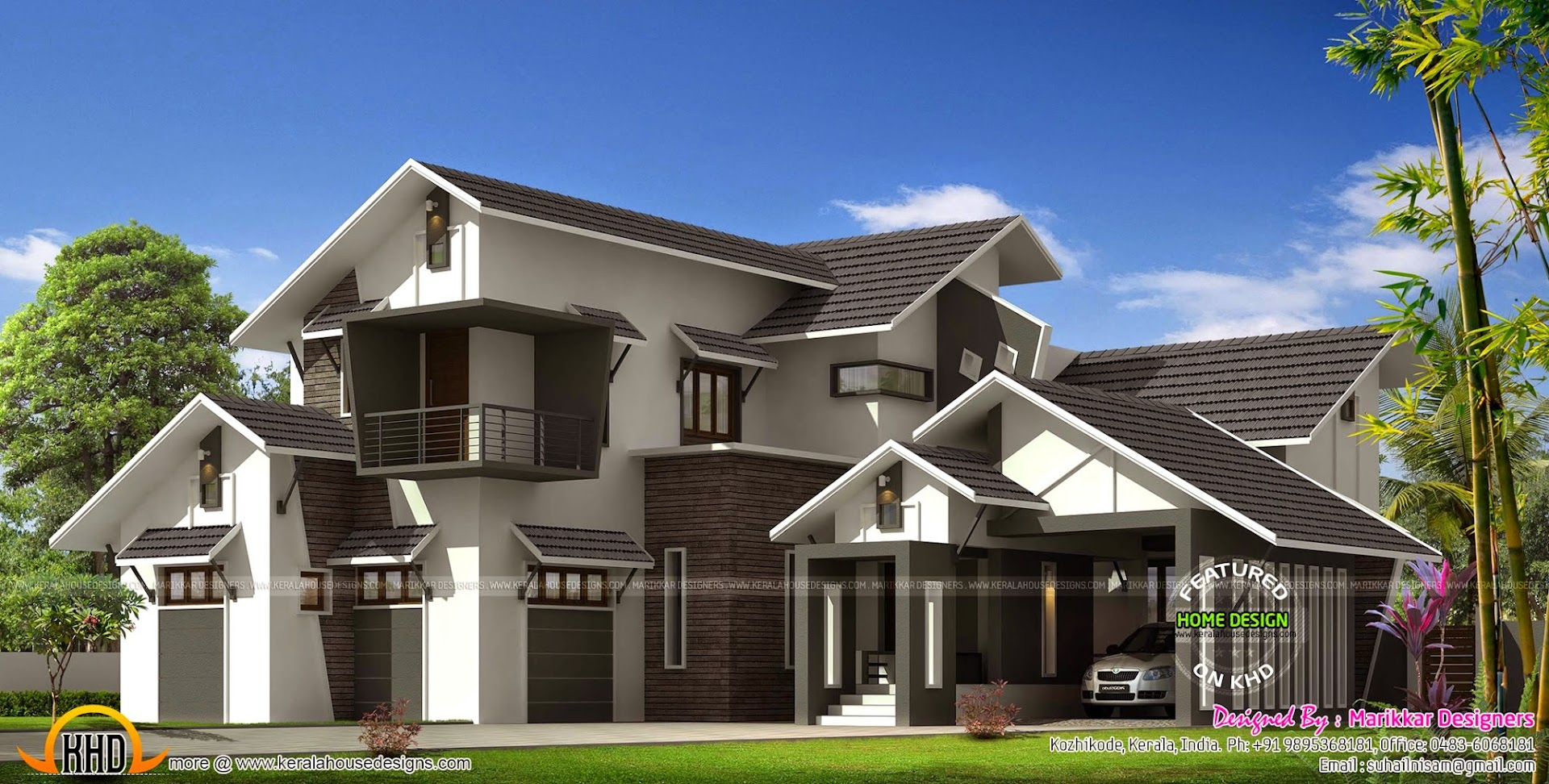 Sit out design for Modern kerala style house plans with photos