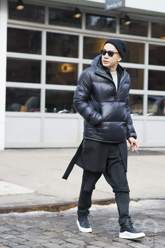Style Editor of Detail magazine Eugene Tong at New York Fashion Week 2015 2016 Fall Winter NYFW