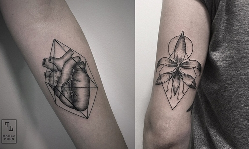 00-Marla-Moon-Geometric-Shapes-with-Tattoo-Drawings-www-designstack-co