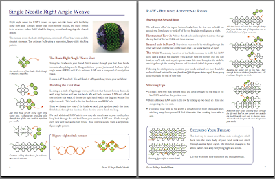 Sample page - right angle weave
